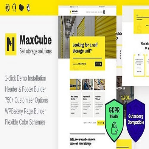MaxCube Moving Self Storage Relocation Business WordPress Theme