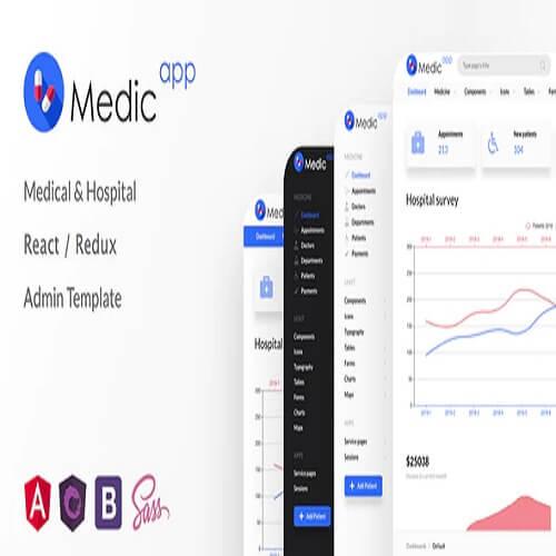 MedicApp Medical Hospital React Redux admin template