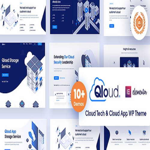 Qloud Cloud Computing Apps Server WordPress Theme