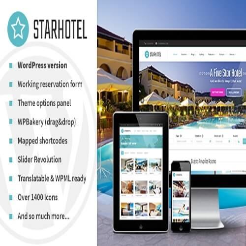 Starhotel Hotel WordPress Theme