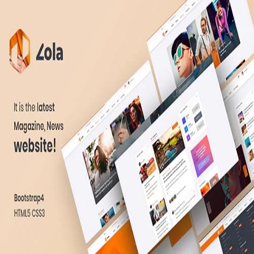 Zola Magazine News HTML5 Template