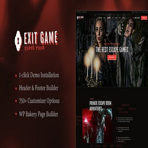 Exit Game | Real-Life Secret Escape Room WordPress Theme