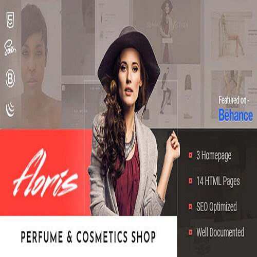 Floris — Perfume & Cosmetics Shop HTML Template
