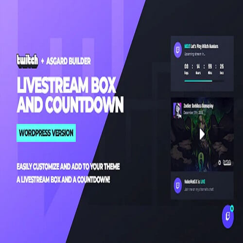 Twitch LiveStream Box and Countdown WordPress Plugin
