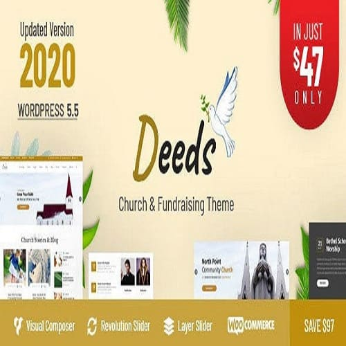 Deeds Nonprofit Church WordPress Theme