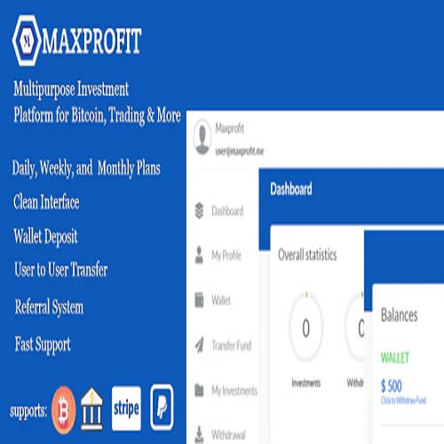 Max Profit - Online Multipurpose Investment Platform