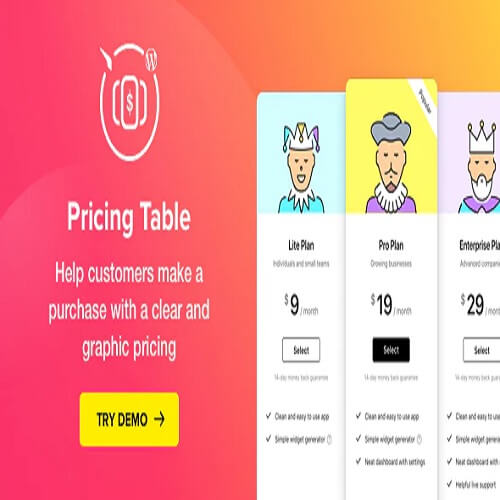 Pricing Table — WordPress Pricing Table Plugin