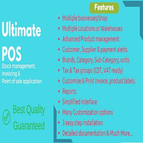Ultimate POS Best Advanced Stock Management Point of Sale Invoicing application