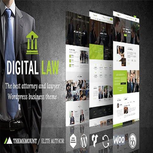 Digital Law Attorney Legal Advisor WordPress Theme