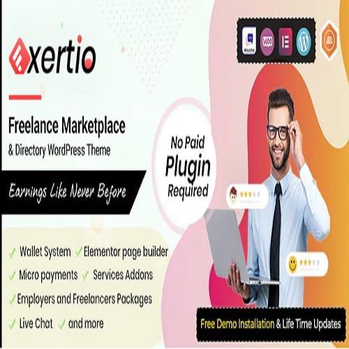 Exertio - Freelance Marketplace WordPress Theme