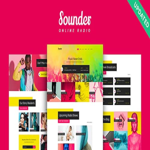 Sounder | Online Internet Radio Station WordPress Theme