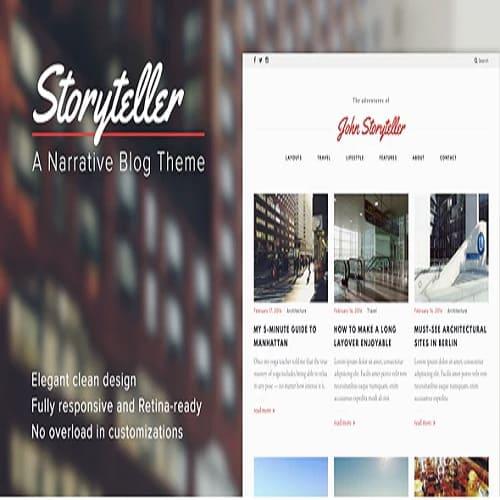 Storyteller — A Narrative WordPress Blog Theme