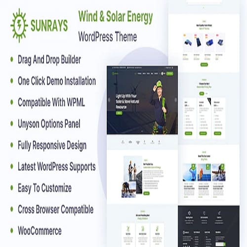 Sunrays – Solar Power & Green Energy WordPress theme