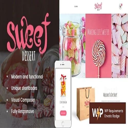 Sweet Dessert   Candy Shop & Cafe WordPress Theme
