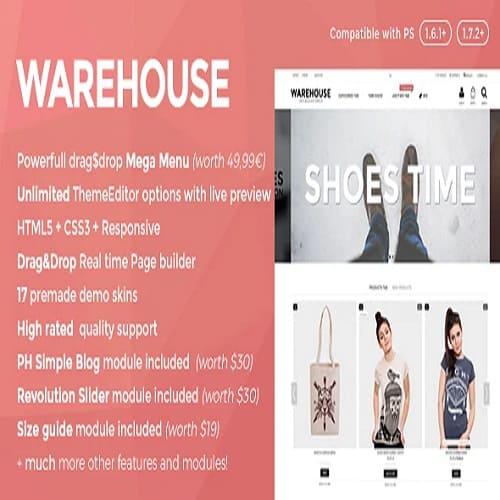 Warehouse - Responsive Prestashop & theme